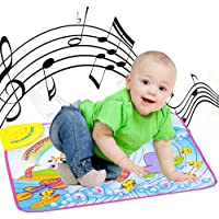Blueseao Portable Musical Piano Mat,Soft Baby Early Education Music Piano Keyboard Carpet,Safe