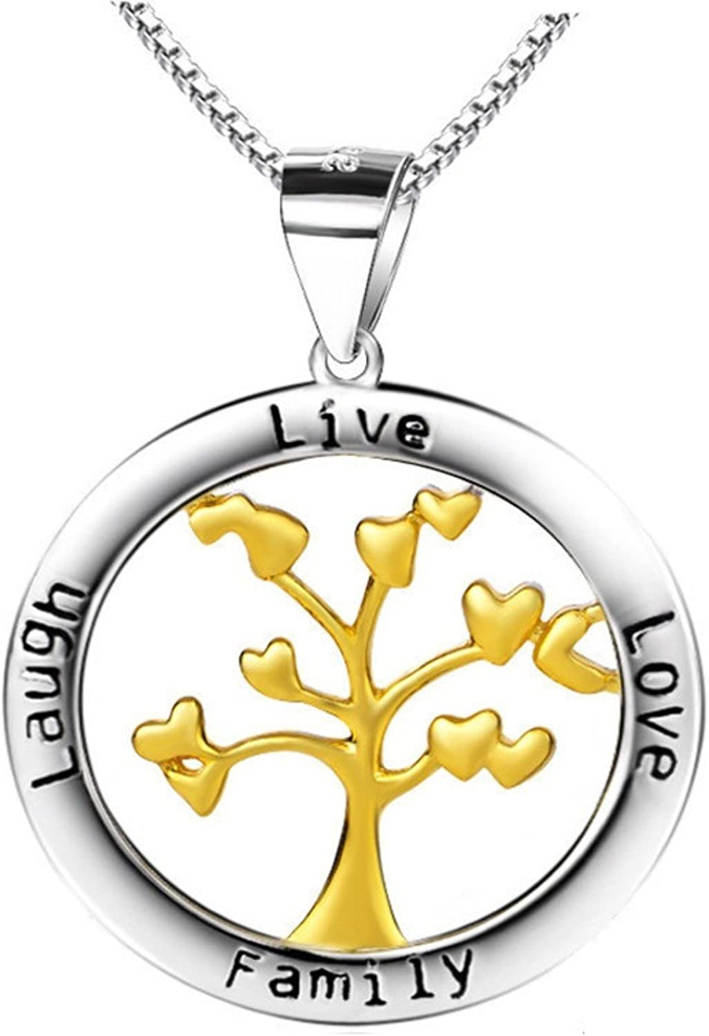 MMC Womens Necklaces Pendants Family Tree Silver Jewelry