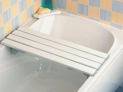 Savanah - Bandeja para bañera (232 mm, plástico y acero inoxidable)