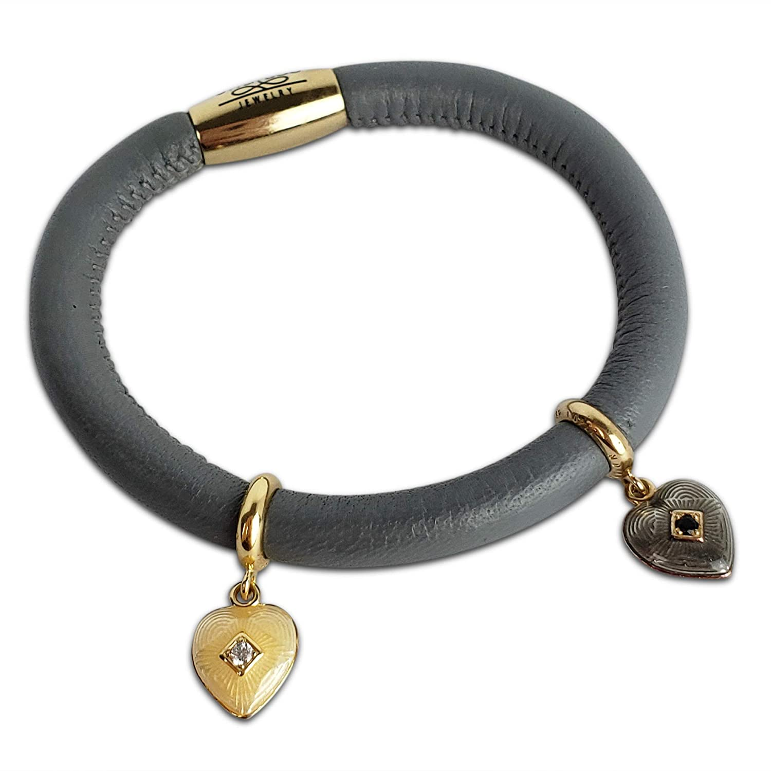 Endless Jewelry Wrap Leather Bracelet a Steel Lock Finish /& Charms Women Girls Birthday Valentines Christmas Anniversary Holiday Wrist Jewelry Magnetic Clasp