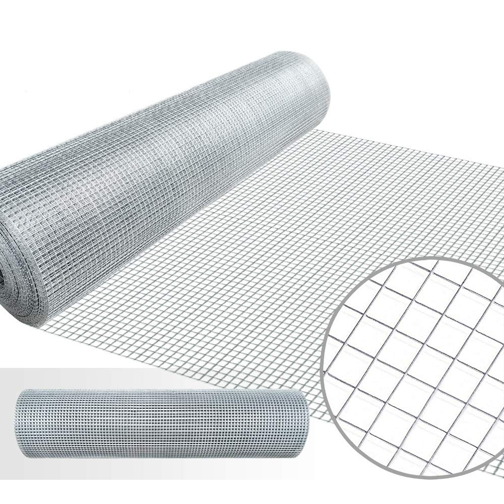 1/4 Hardware Cloth 36 x 50 23 gauge Galvanized Welded Wire Metal Mesh Roll Vegetables Garden Rabbit Fencing Snake Fence for Chicken Run Critters Gopher Racoons Opossum Rehab Cage Wire Window by AMAGABELI GARDEN & HOME