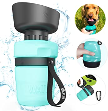 Portable Dog Water Bottle,Upgraded 2 in 1 Pet Travel Water Bottle and Bowl,Leakproof Pet Drinking Bottle for Dog Cat Outdoor Travel Walking,Lightweight Large Capacity Pet Water Bottles 18oz BPA Free