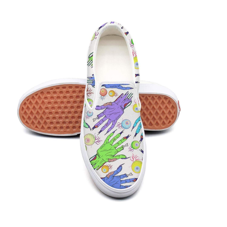 messieurs et mesdames sryty custom zombies yreiuy custom sryty coloré des femmes main - œil faible raie plat sans dentelle toile bon marché à faible coût des chaussures chaussures mode style classique gg3478 2929fd