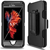 """PTUNA iPhone 7 Plus Case with Belt Clip, Kickstand, Holster, Heavy Duty, Separate Screen Protector Included, Rugged Rubber Case Compatible with iPhone 7 Plus(ONLY)(5.5"""")"""