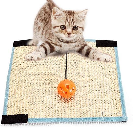 ZKO Rascador para Gatos sisal Resistente Antideslizante, rascador para Gatos, Suelo de pie para Pared y Pata para Muebles, con Gato Redondo, 32 x 25 cm (Beige): Amazon.es: Productos para mascotas