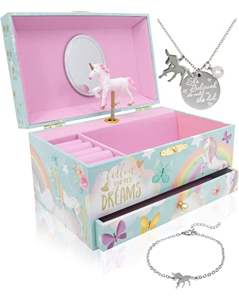 Amazon.com: The Memory Building Company Unicorn Music Box ...