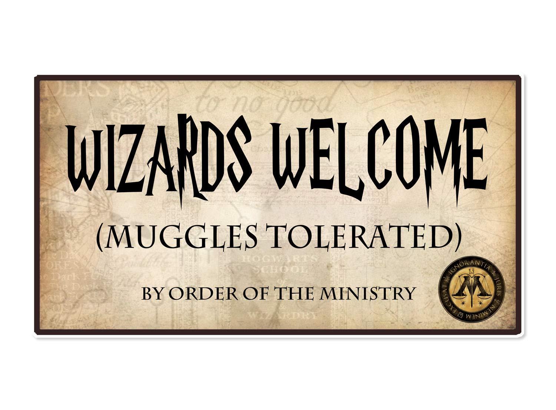 Coco/&Bo Magische Zauberei Muggel toleriert Willkommensparty Poster Harry Potter inspiriert Hogwarts School Party Dekorationen