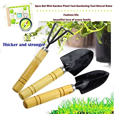 Tool Sets Kids Toy Mini Garden Plant Tools 3pcs Spade Shovels Rakes Gardening Gifts : Garden & Outdoor