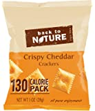 Back to Nature Non GMO Grab & Go Crackers, Crispy Cheddar, 1-Ounce, 8 Count