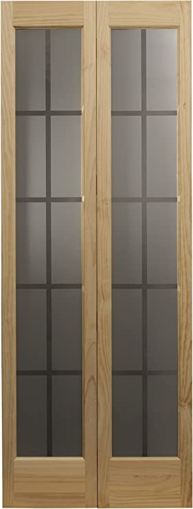 Ltl Home Products 837326 Mission Glass Bifold Interior Solid Wood Door 30 Inches X 80 Inches Unfinished Pine Amazon Com