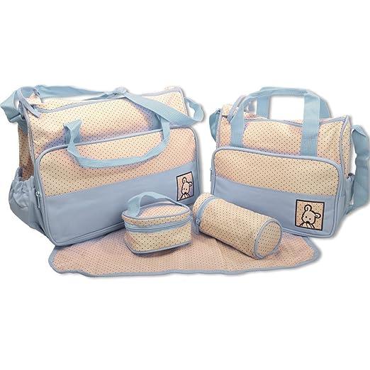 53 opinioni per Baby World- Set di borse per cambio pannolini, 5 pezzi, colori assortiti