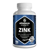 Zinc 50 mg - 180 tablets vegan for 6 months - Best bioavailability - Premium Quality Product without magnesium stearate, 30 days free return! 1 pack (1 x 126 g)