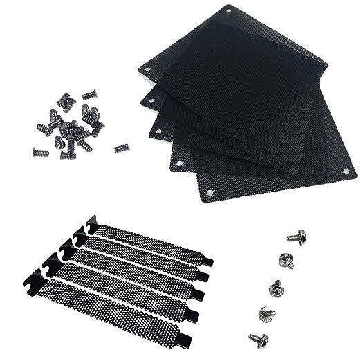 6 opinioni per Nincha 12mm PVC computer PC ventola di raffreddamento filtro nero antipolvere
