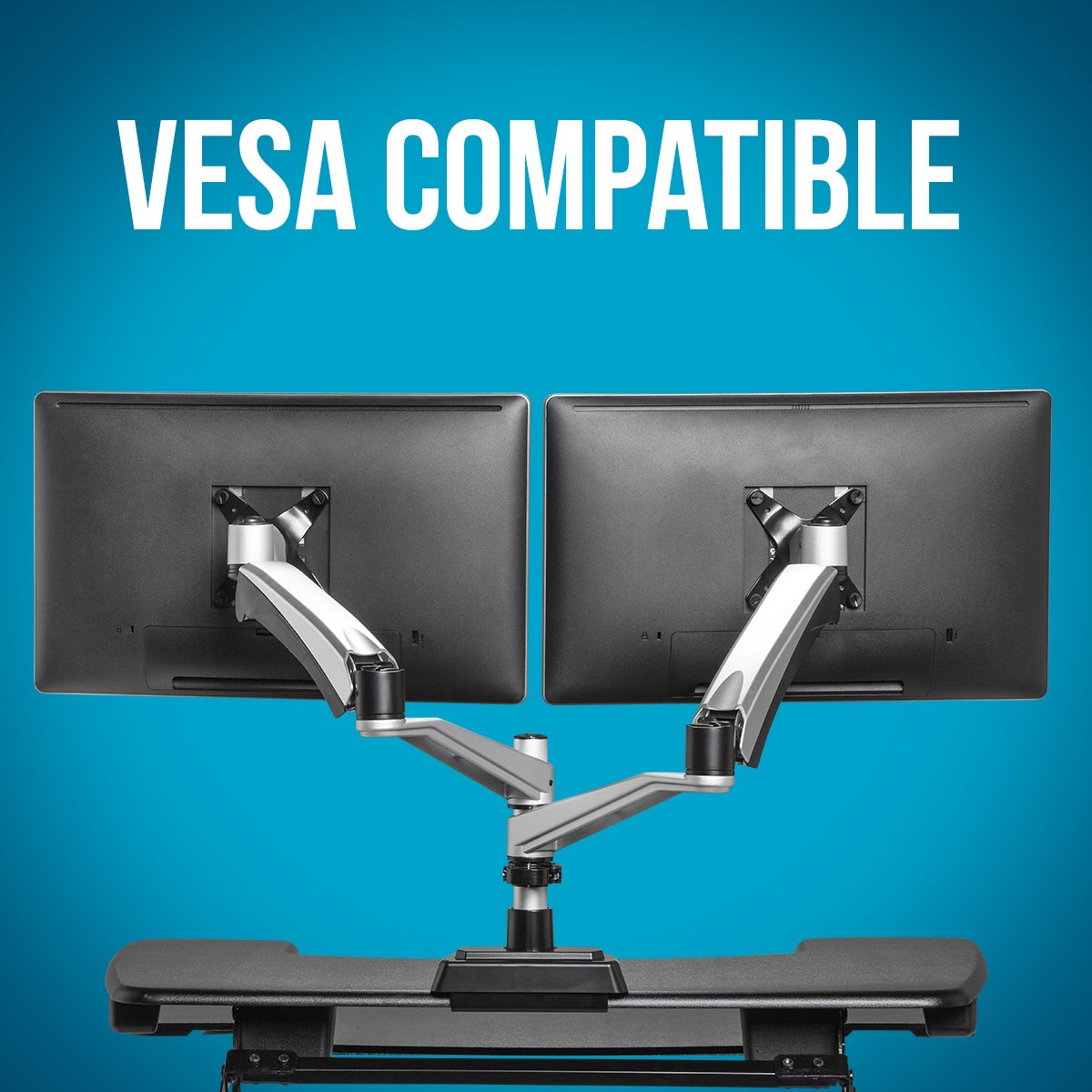 VARIDESK - Monitor Arm - Full-Motion Spring Dual - Monitor Arm