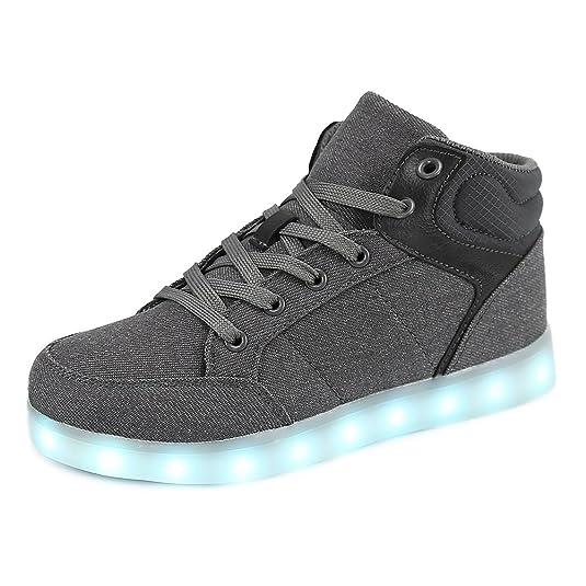Dannto Kinder Leuchtende Blinkschuhe Turnschuhe Farbe USB Aufladen LED Licht Kinderschuhe Sportschuhe Hoch Oben Lässige Mode