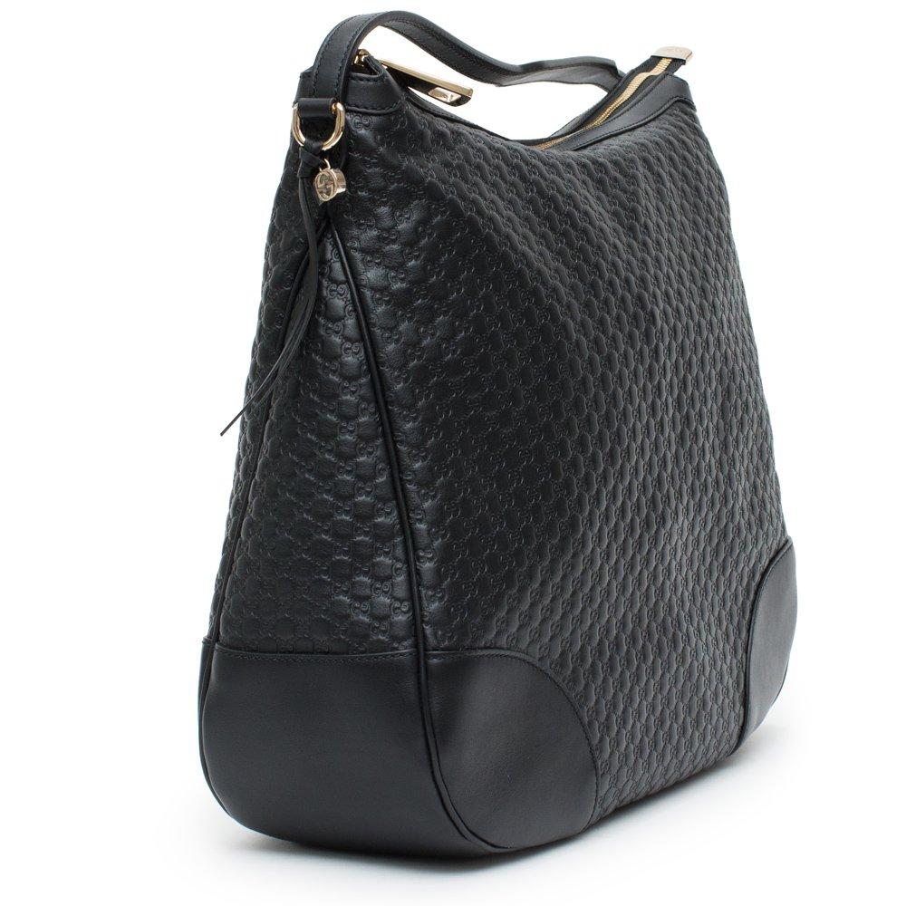 9deb51c28f29f0 Amazon.com: Gucci Bree Guccissima Leather Hobo Bag Black New: Shoes