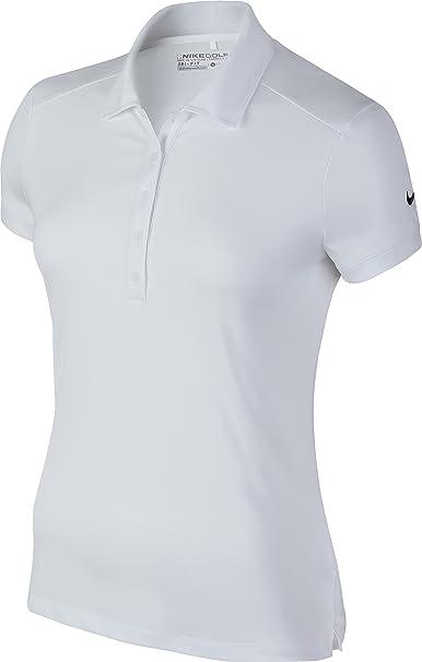 Victoria sólido polo de golf Nike de las mujeres - 4 Colores - White ...
