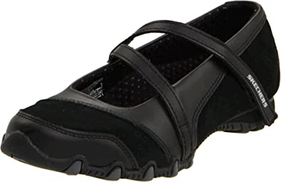 Skechers Women s Bikers-Step-Up Mary Jane Slip-On Flat  31b5dc5001bc
