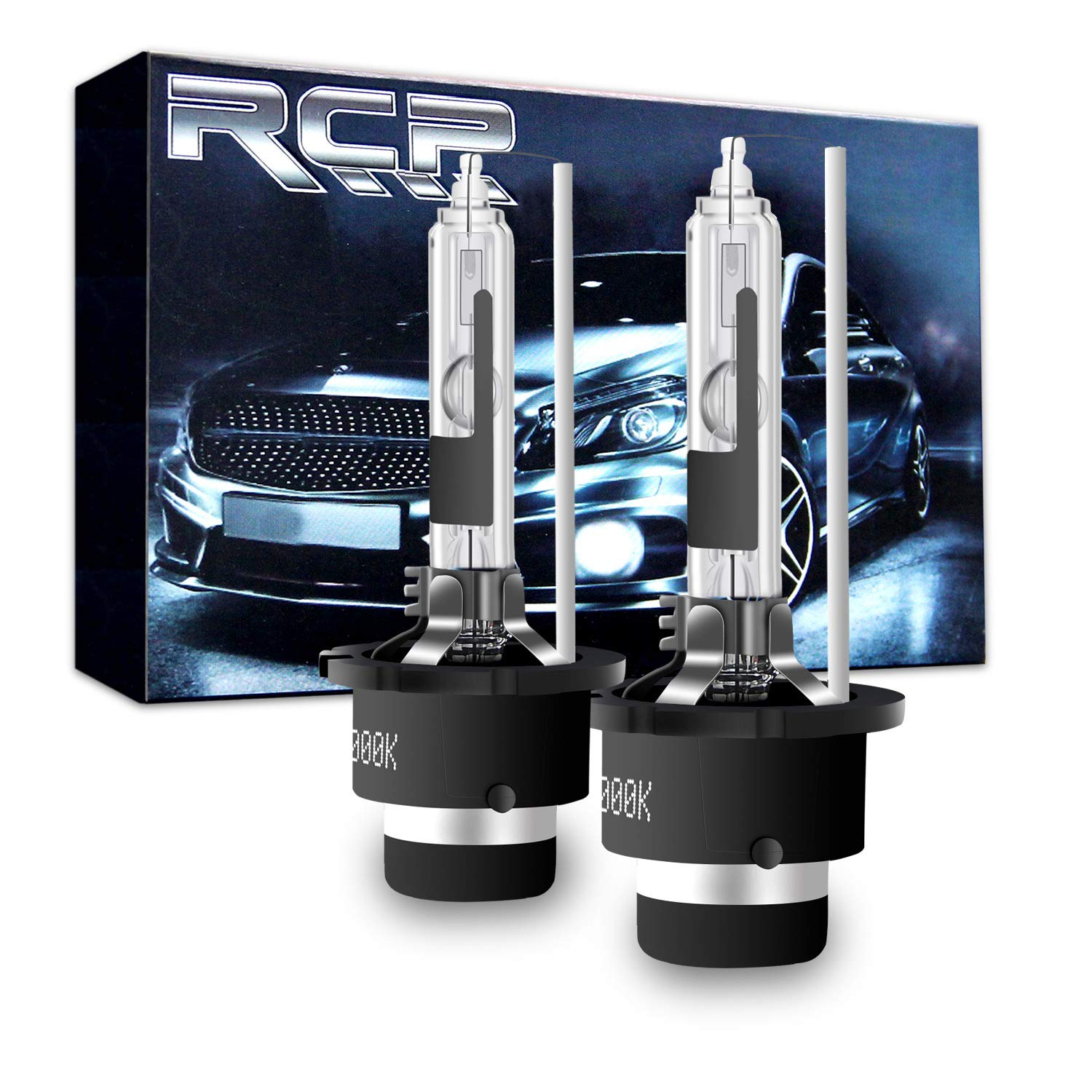 RCP - D2R6 - (A Pair) D2R 6000K Xenon HID Replacement Bulb Diamond White