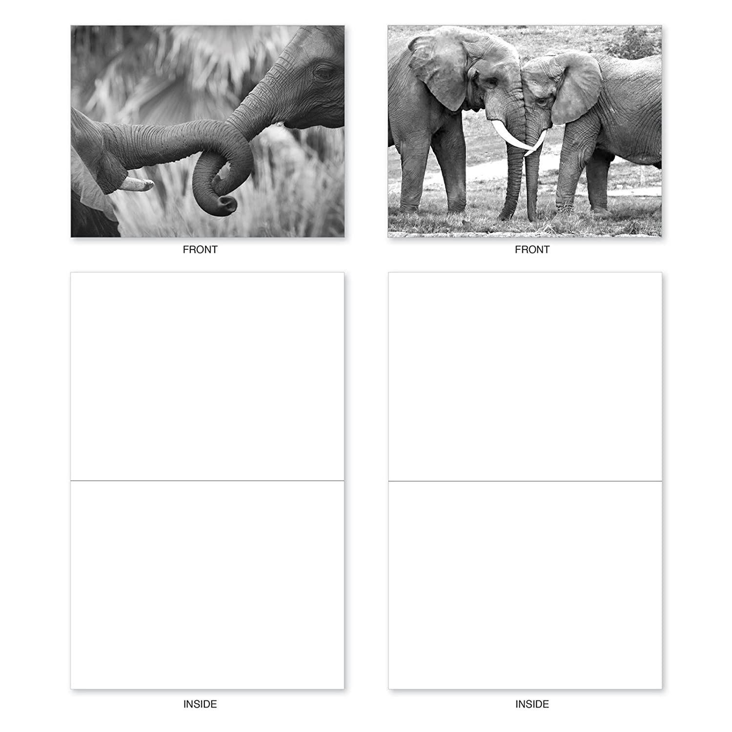 10 Elephant Note Cards With Envelopes 4 X 5 Assorted