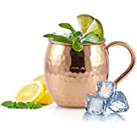 Copper Mugs Set for Moscow Mule - Set of 2 - with Bonus Copper Straws