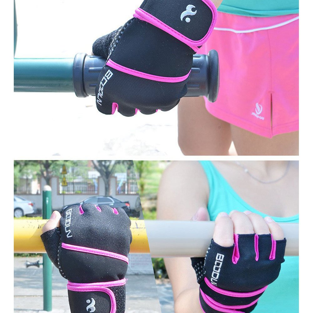 Amazon.com : iwish Womens Mens Fitness Weight Lifting Glove with Long Wrist Wrap Support : Sports & Outdoors