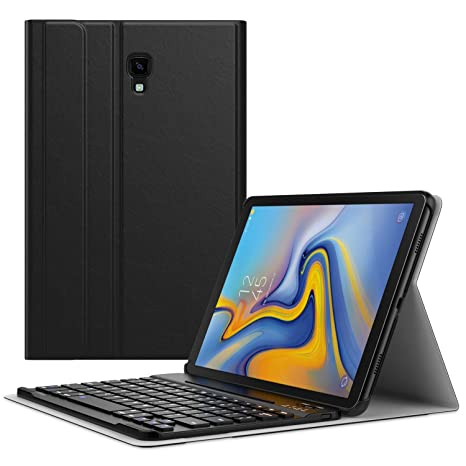 MoKo Keyboard Case for Samsung Galaxy Tab A 10.5 2018 Tablet SM-T590 (Wi-Fi)/SM-T595 (LTE)/SM-T597, Slim Shell Portfolio Business Stand Cover with ...