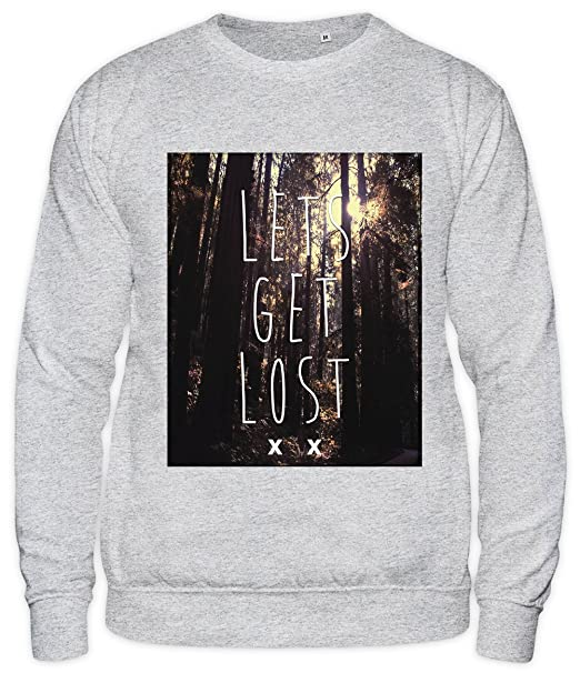 Styleart Lets Get Lost Woods Forest Hipster TUMBLR Unisex Sweatshirt: Amazon.es: Ropa y accesorios