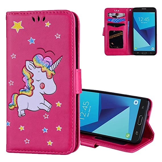 2dc333c03d0 Galaxy J5 Pro Case, Galaxy J5 2017 Wallet Flip Cover Aeeque Aeeque PU  Leather Bling
