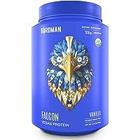 Birdman Falcon Protein, Vegan Protein Powder 2.18lb, 33 Servings, Vanilla, Organic, Plant-Based, Raw, Gluten Free, No Sugar Added, Low Carb, Non-GMO, Non Dairy, Lactose Free, Soy Free, Drink Mix