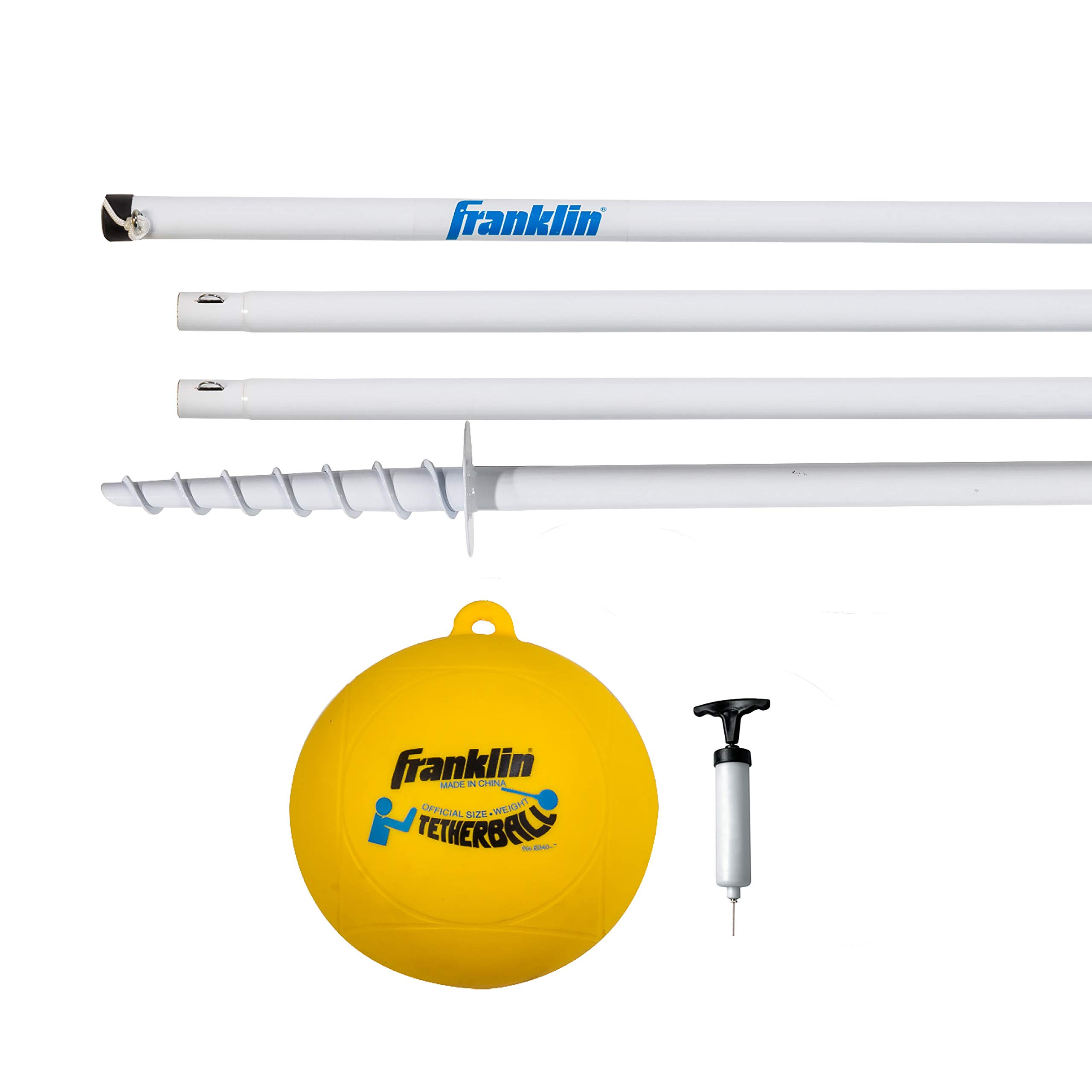 Franklin Sports Tetherball - Tetherball Ball, Rope and Pole Set - Portable Steel Tetherball Set with Easy Assembly - Classic Outdoor Game by Franklin Sports