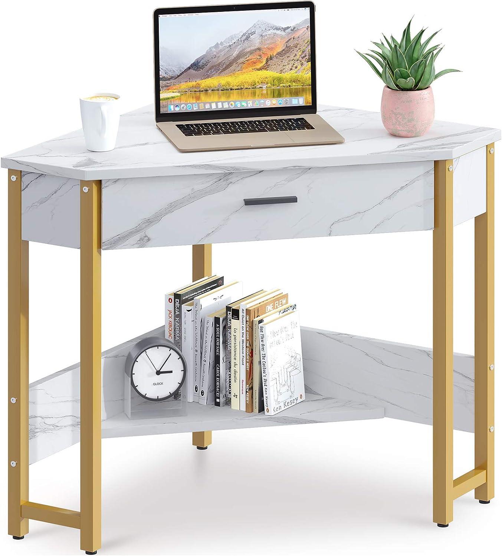 ODK Corner desk, Triangle Computer Desk w/ Drawer $89.99 Coupon