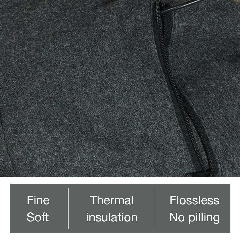gris /écharpe chaude au col en hiver lavable /Écharpe chauffante rechargeable pour hommes femmes 71 pouces /écharpe chauffante USB /électrique en cachemire