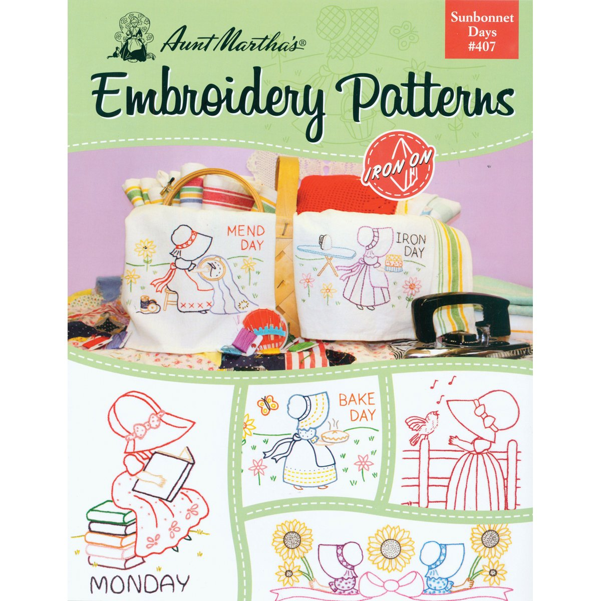 Amazon aunt marthas sunbonnet days embroidery transfer amazon aunt marthas sunbonnet days embroidery transfer pattern book kit bankloansurffo Image collections