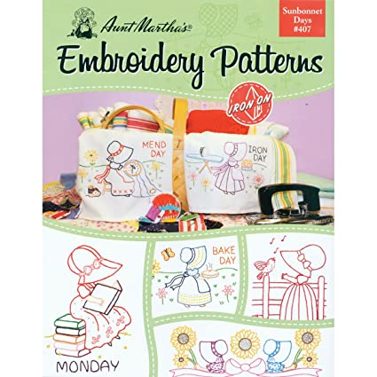 Amazon Aunt Marthas 407 Sunbonnet Days Embroidery Transfer