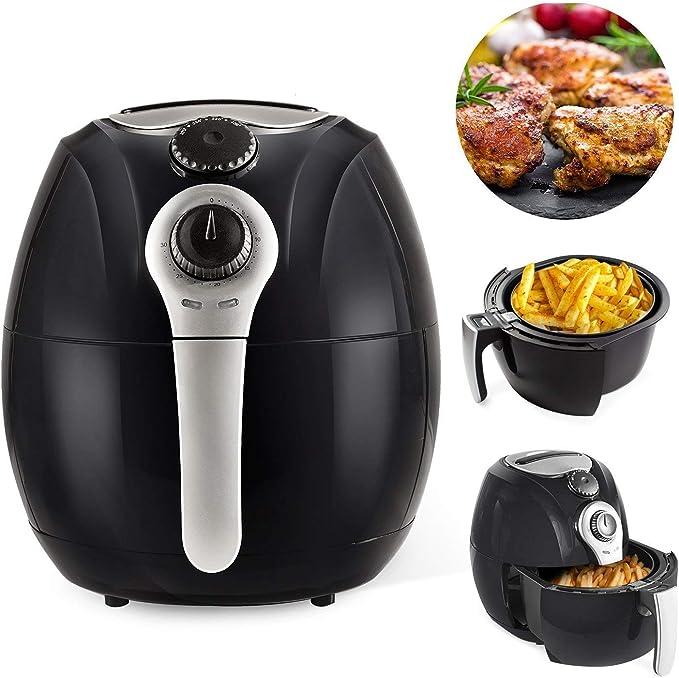 Simple Chef Freidora de aire – Freidora de aire para cocina saludable sin aceite – 3,5 litros de capacidad con partes aptas para lavavajillas: Amazon.es: Hogar