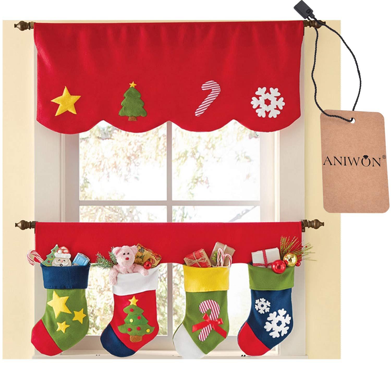 Decorative Window Valances for Christmas Home Kitchen Decoration