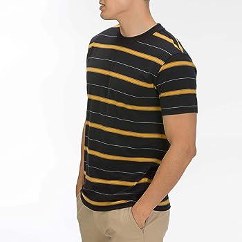 Hurley M Dri-Fit Harvey Stripe S/S Camisetas, Hombre, Black, S ...