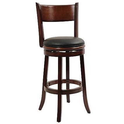 Miraculous Boraam 43129 Palmetto Swivel Stool 29 Inch Chestnut Creativecarmelina Interior Chair Design Creativecarmelinacom
