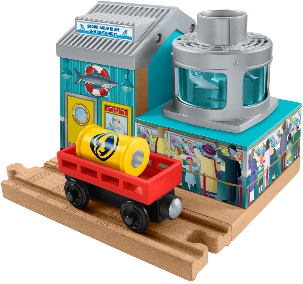 Thomas & Friends Fisher-Price Wooden Railway Shark Food Delivery Train