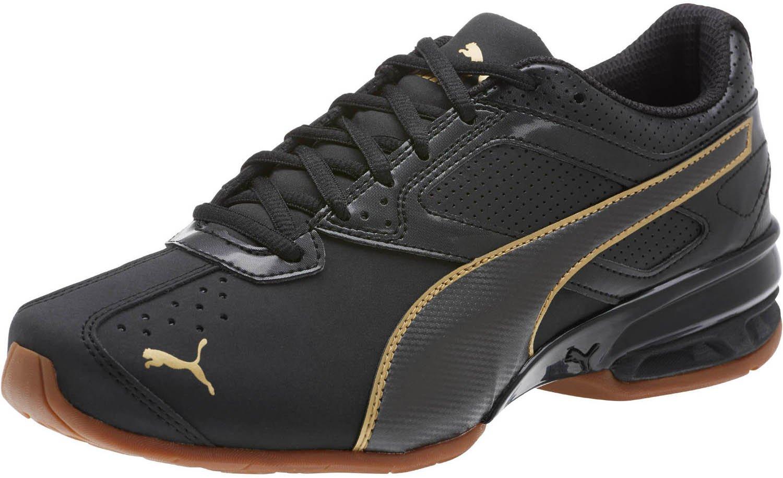 PUMA Women's Tazon 6 WN's FM Sneaker, Black Team Gold, 7.5 M US