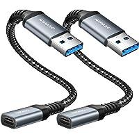 NIMASO Adaptador USB C a USB (2 Pack) USB C Hembra a Tipo A USB Macho Adaptador de Cable de Cargador Tipo C para iPhone…