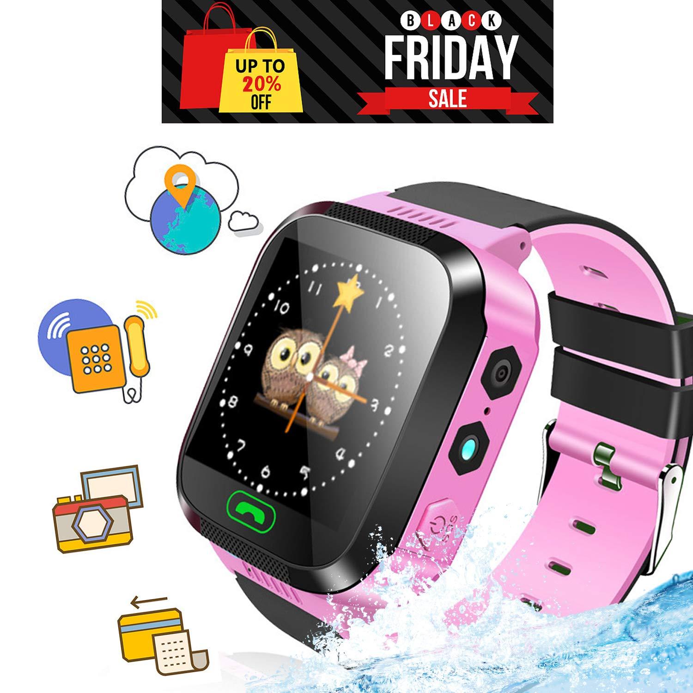 Kanaaka Relojes Smart para niños, Relojes a la Moda Smart para niños y niñas, Realiza Llamadas, envía Mensajes de Voz, USA la Linterna, Cámara, ...
