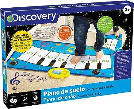 Discovery Suelo, Teclado, Instrumentos Musicales Infantiles, Piano eléctrico, Color Blanco (6000182)