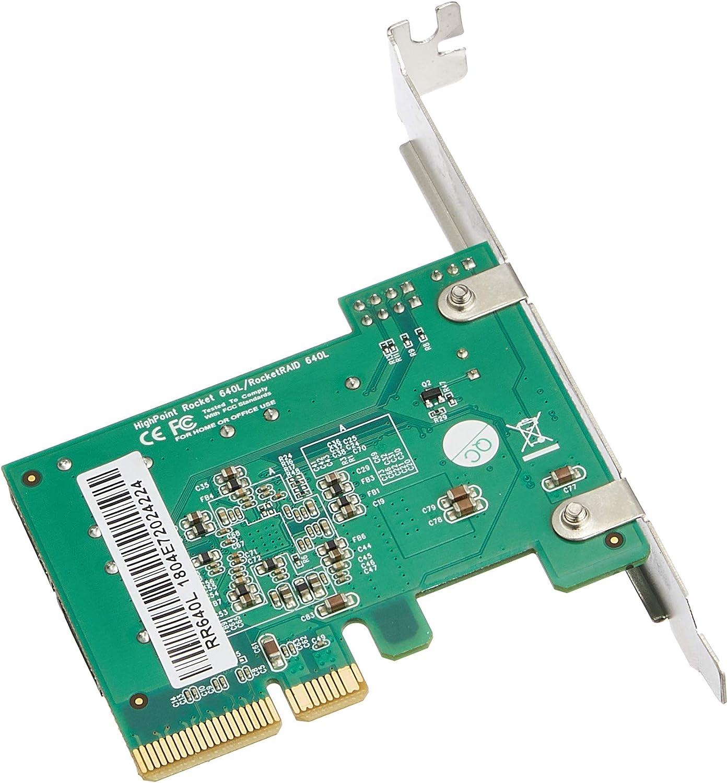 HIGHPOINT TECHNOLOGIES RR640L 4PORT IN 6GB//S SATA RAID PCIE