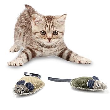 OFKPO 2 Pcs Juguetes Interactivo con Sonido y Forma de Ratón para Gatos Perros: Amazon.es: Electrónica