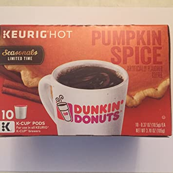 Amazoncom Dunkin Donuts K Cups 10ct Pumpkin Spice Pack