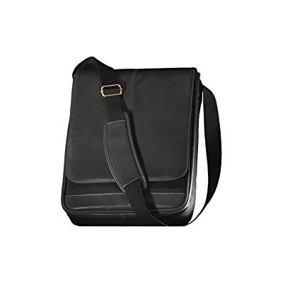 Andrew Philips Metro Vertical Leather Nylon Laptop Briefcase in Black 80%OFF
