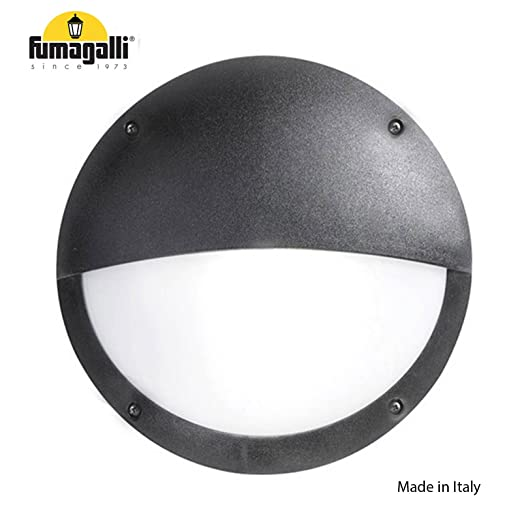 Fumagalli ip66 lucia el e27 bulkhead wall light black rust fumagalli ip66 lucia el e27 bulkhead wall light black rust corrosion free made in italy mozeypictures Gallery