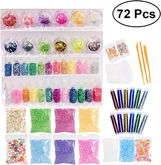 supvox Slime Supplies Kit, 72 Pack Slime perlas colgantes Pez ...